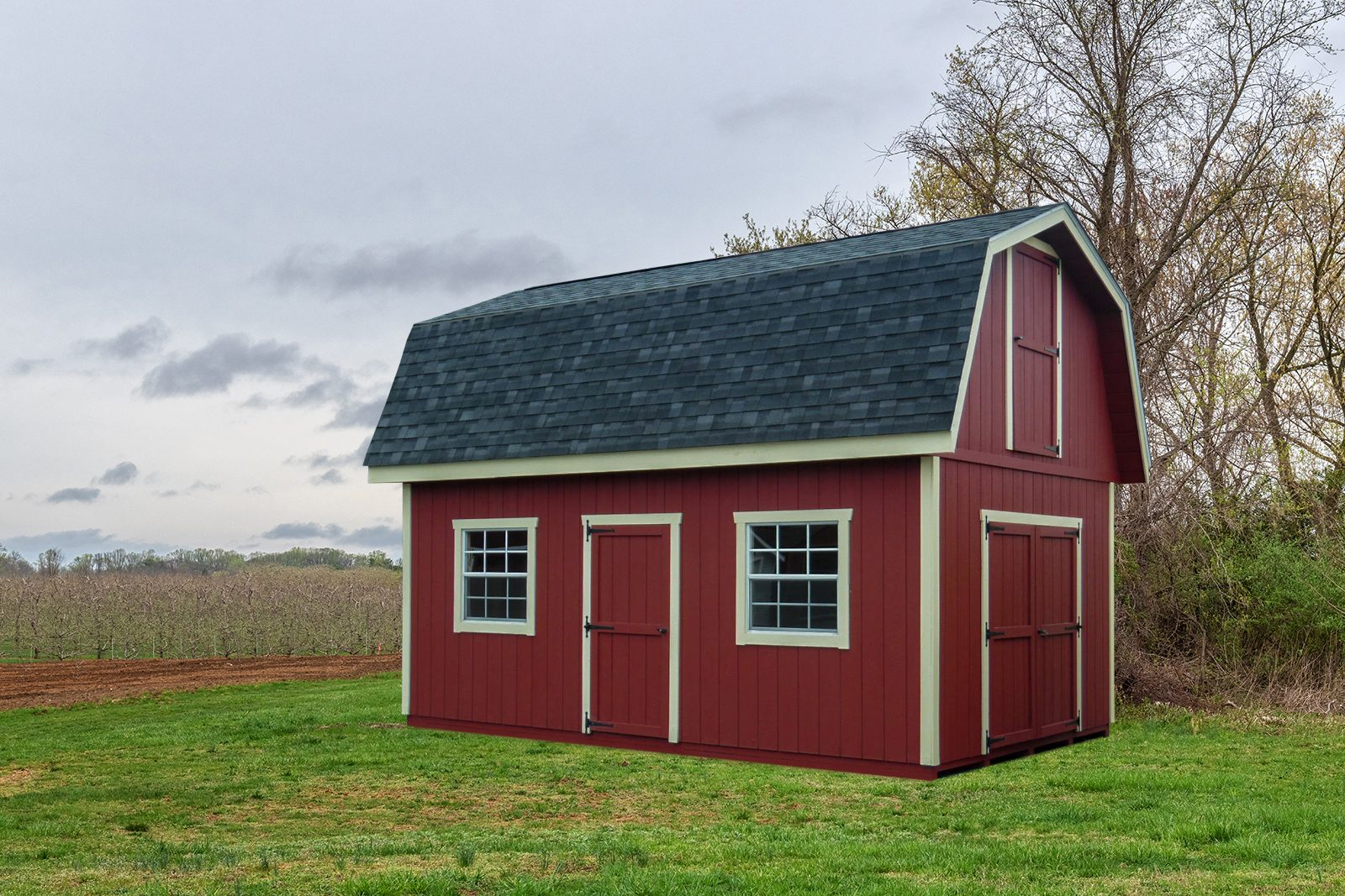 two story shed barn