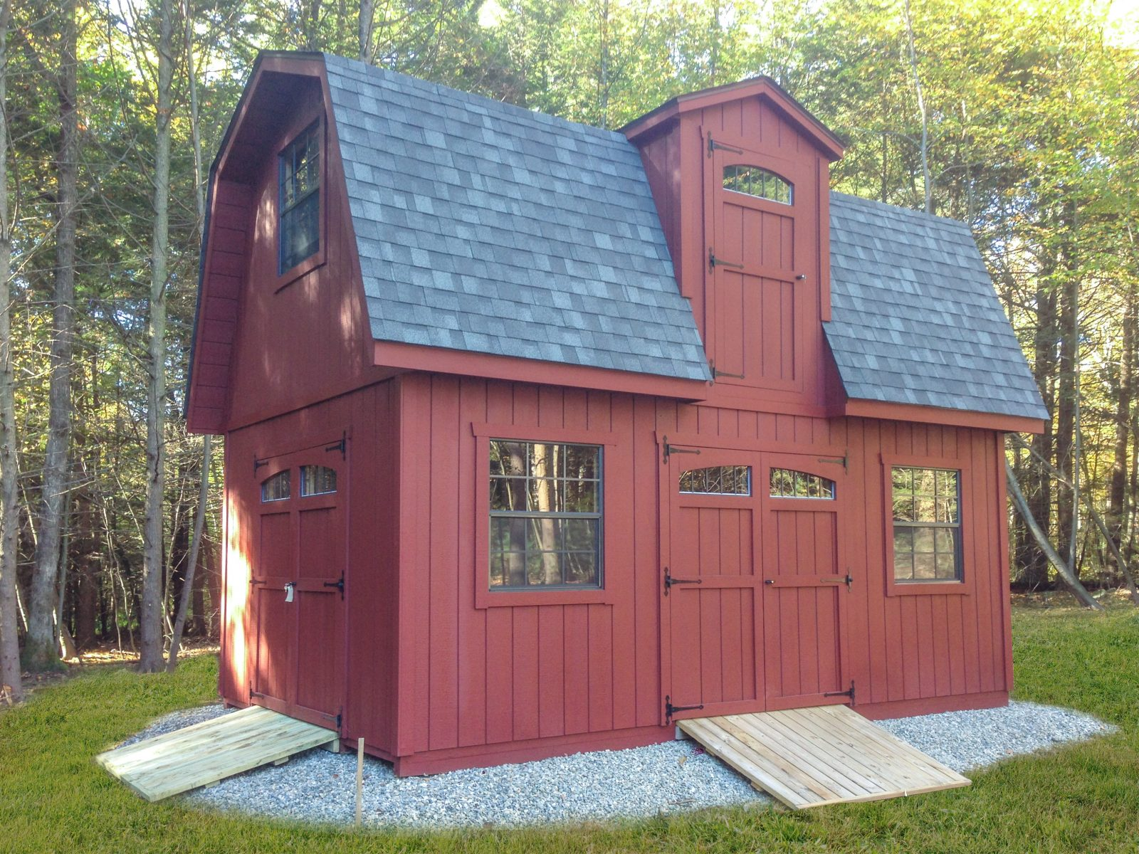 outdoor two story shed