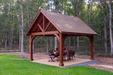 wooden garden pavilion