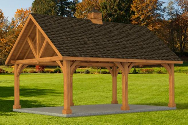 custom built garden pavilion