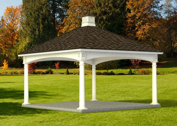 custom built prefab pavilion