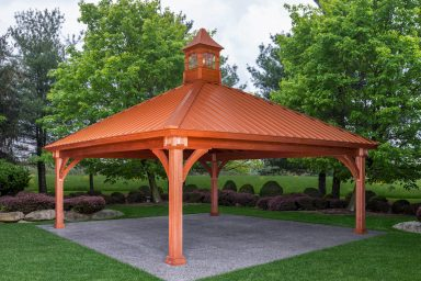 wood patio pavilions