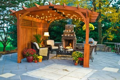 12x17 pergola with curved roof