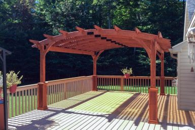 14x17 curved wood for pergola