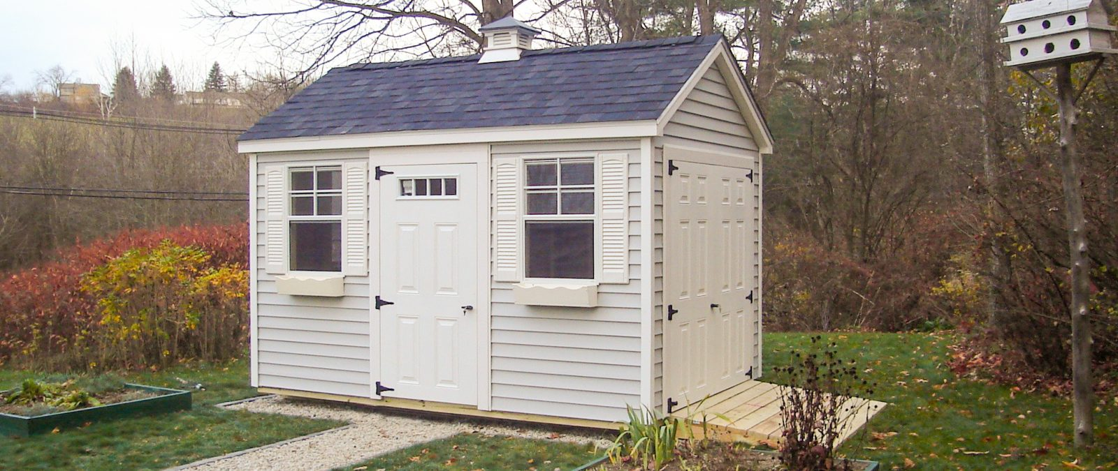 outdoor traditional storage shed