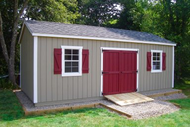 large yard sheds