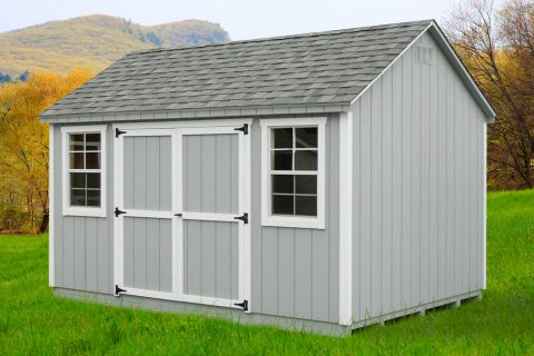 outdoor gable shed