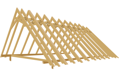 ranch shed rafters