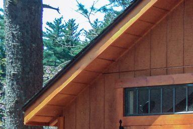 unique shed overhang