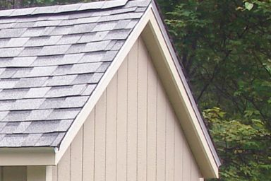traditional shed overhang