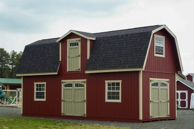 2 story wood shed