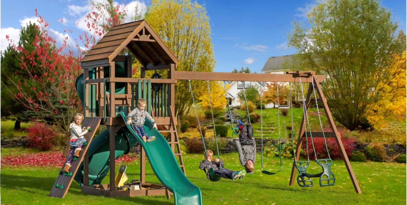 Image of: Backyard Playsets For Family Fun Get A Custom Playset Today