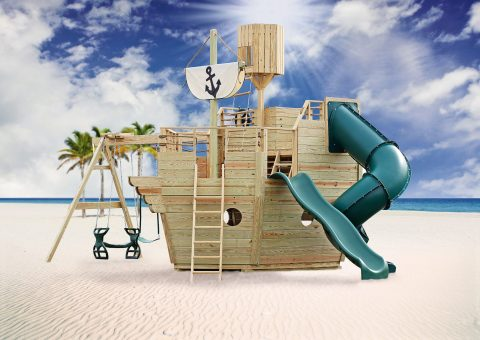 pirate ship backyard playset