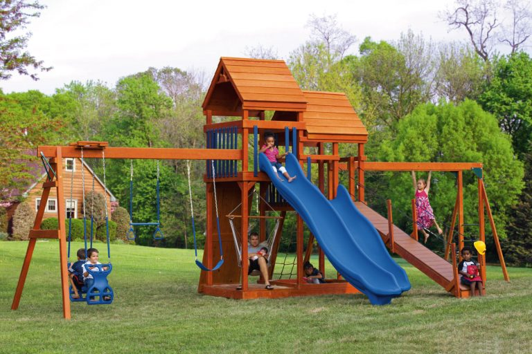 wooden backyard playsets