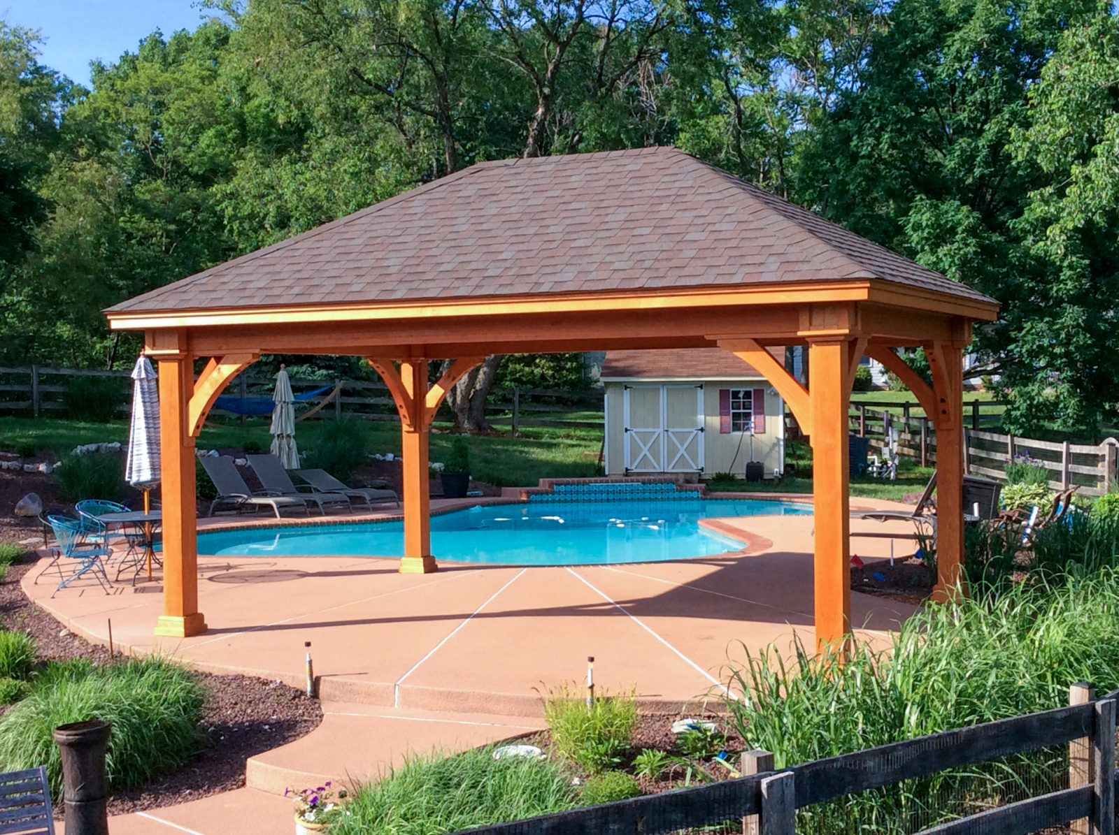 grand estate outdoor pavilion