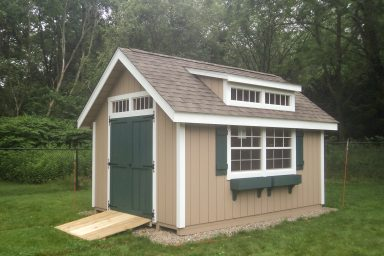 backyard country shed with ramp