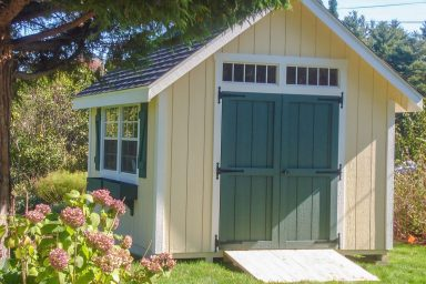 yellow garden country shed