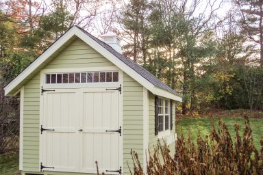 backyard country shed with door windows