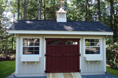 new england quaker shed with t1 11 siding