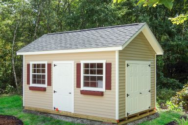 new england ranch vinyl shed