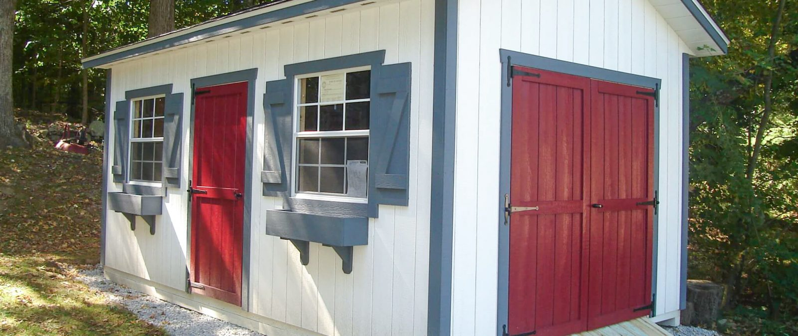 new england ranch shed