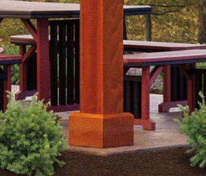 wood alpine pavilion post skirt 300x300