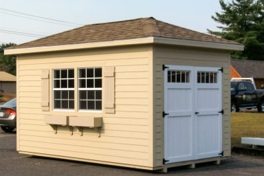 small hip roof shed