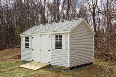 backyard traditional shed