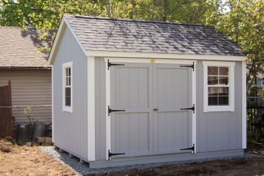 traditional built shed