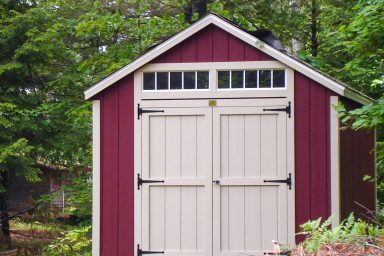 traditional red shed for sale