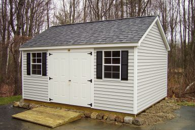 traditional sheds with vinyl