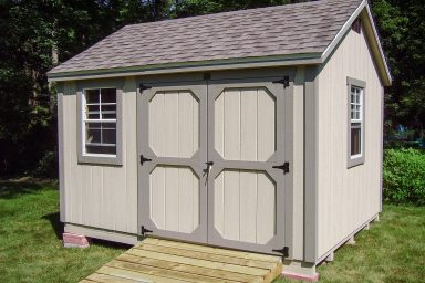 traditional wooden garden sheds