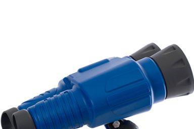 5 binoculars blue