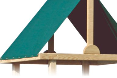 patiova wood playset tarp roof