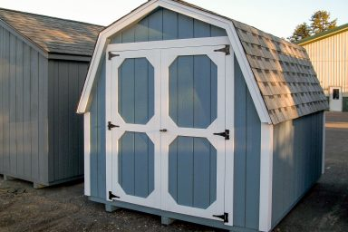 gambrel roof storage shed