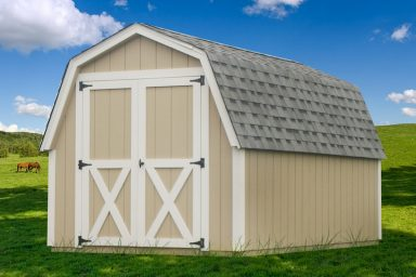 yellow barn gambrel shed