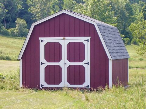 gambrel style shed