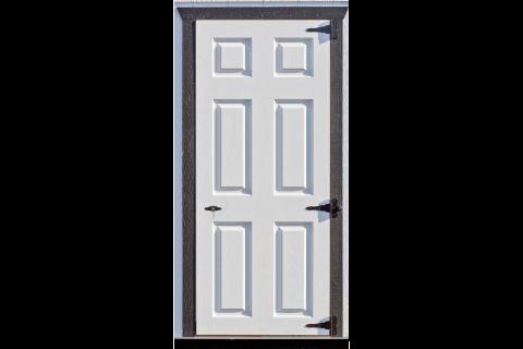 standard 6 panel door dog kennel option 2400x9999