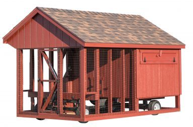 chicken coop accessories heavy duty wheel system with hydraulic lift 384x384
