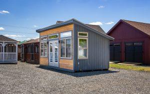 lean to modern backyard shed